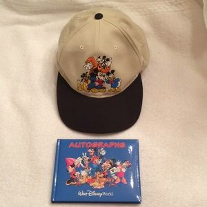 Youth Walt Disney Baseball Hat and Autograph Book